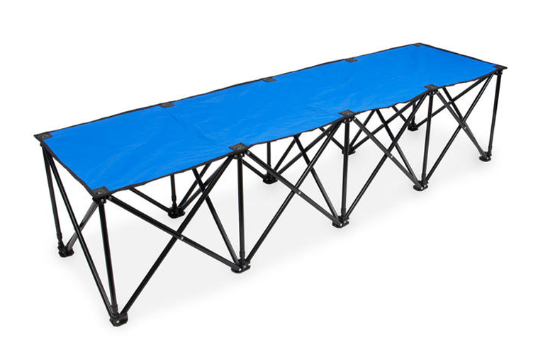 6-Foot Portable Folding 4 Seat Bench, Blue