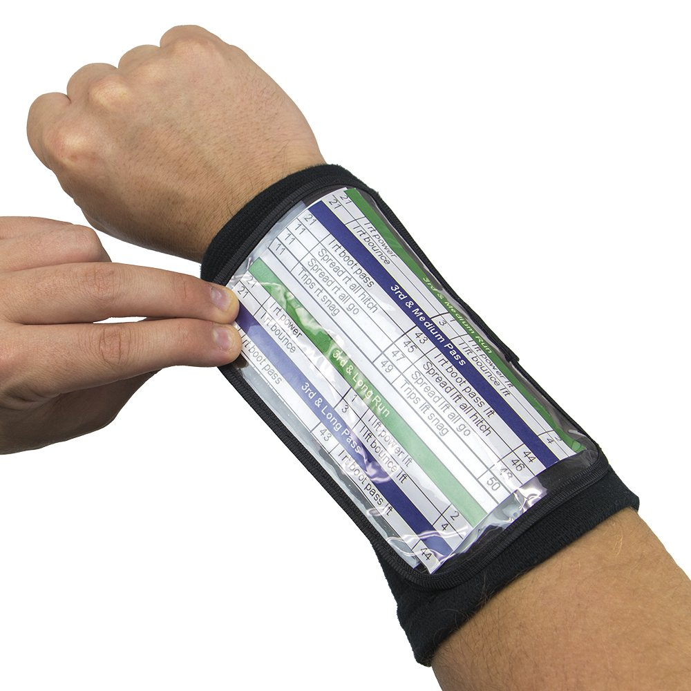 "Quarterback Playbook Wristband, 6.5"" Large"