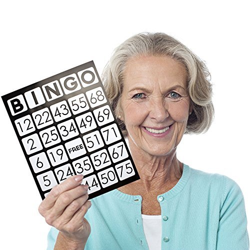 EZ Readers Jumbo Bingo Cards, Pack of 50