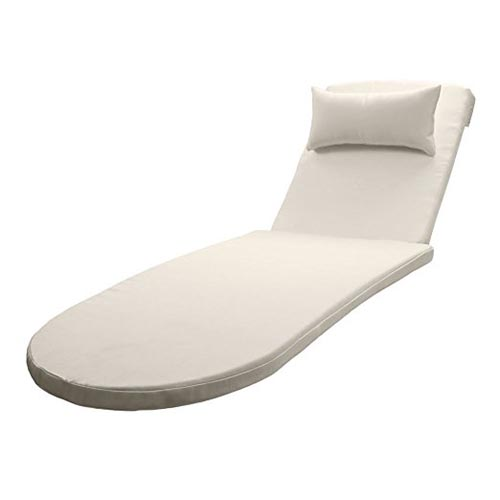 All-Weather Outdoor Chaise Lounge Cushion