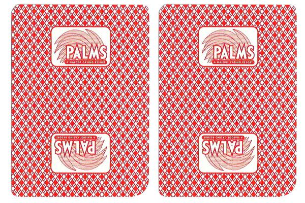 Single Deck Used in Casino Playing Cards - Palms
