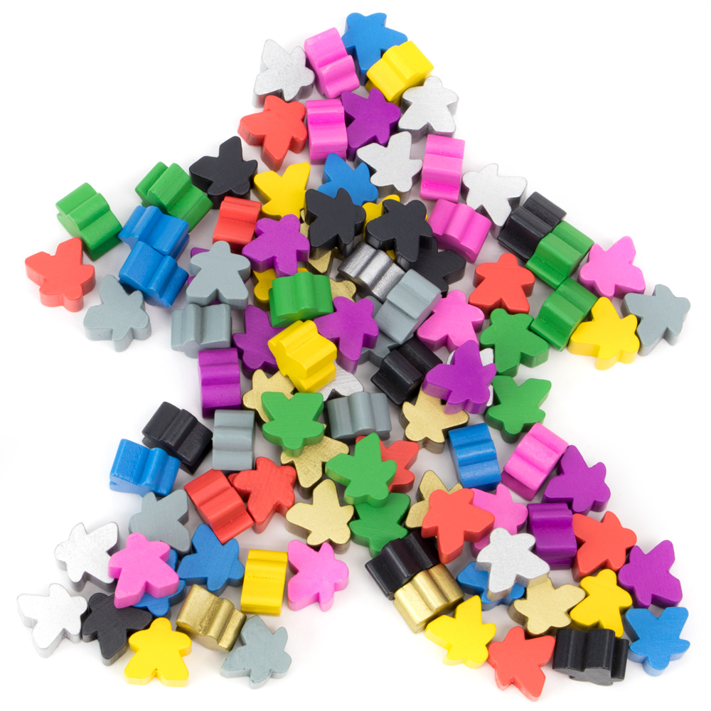 100 Assorted Meeples