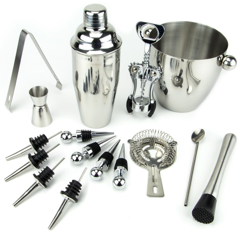 16 Piece-Stainless Steel Bar Set