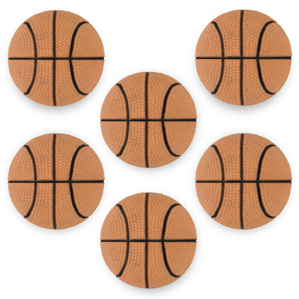 6 Mini Basketballs, 2.5""