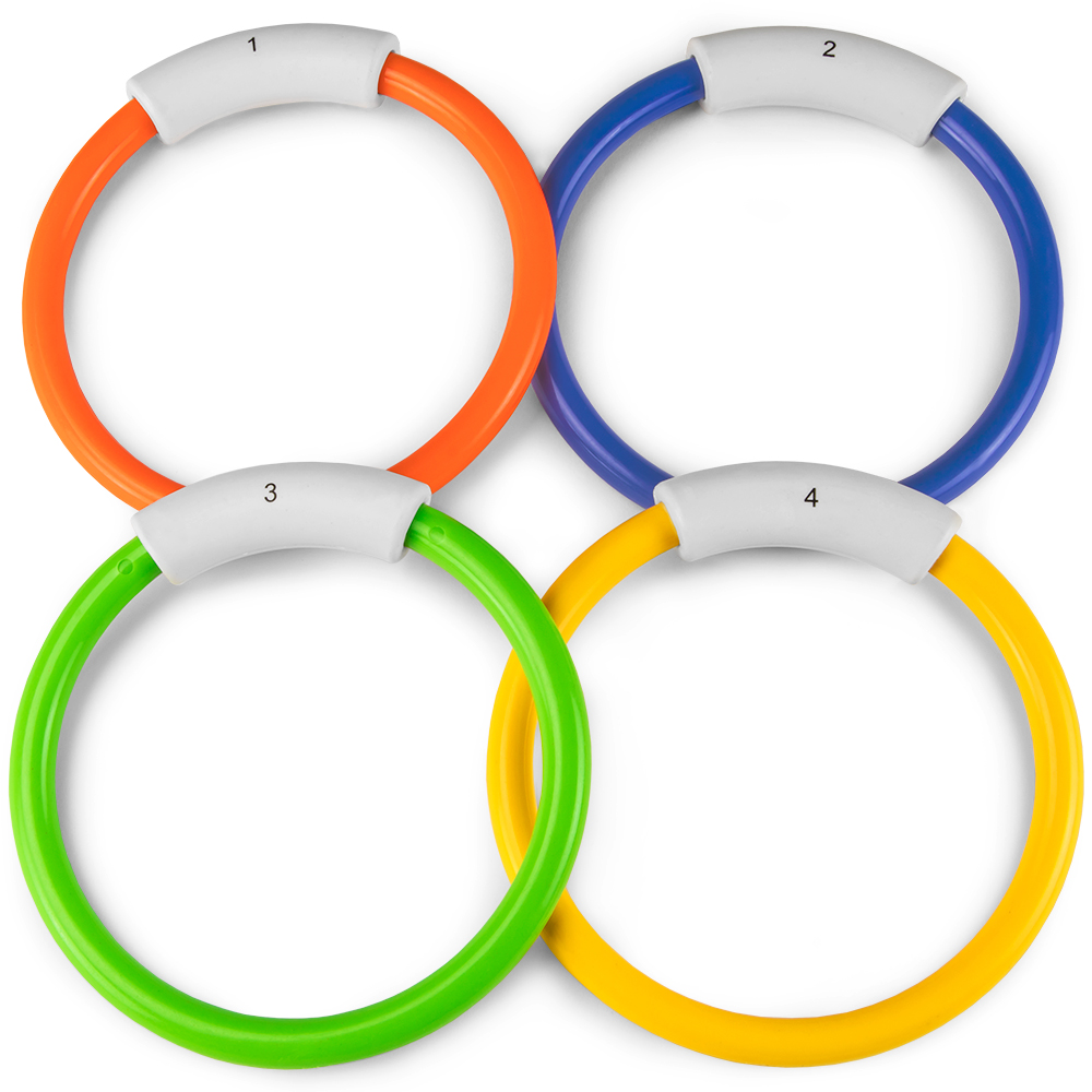 Deep Down Divers- Set of 4 Sinking Pool Rings