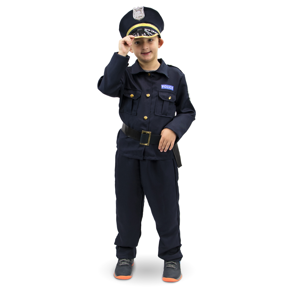 Plucky Police Officer Children's Costume, 7-9