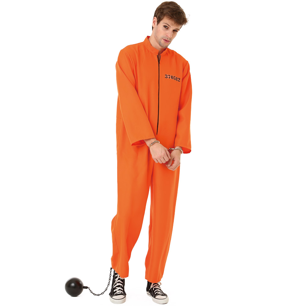 Conniving Convict Adult Costume, M