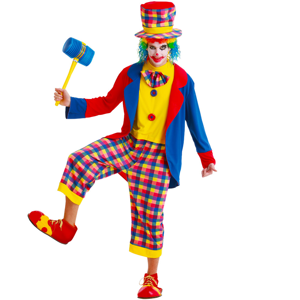 Creepy Clown Adult Costume, M