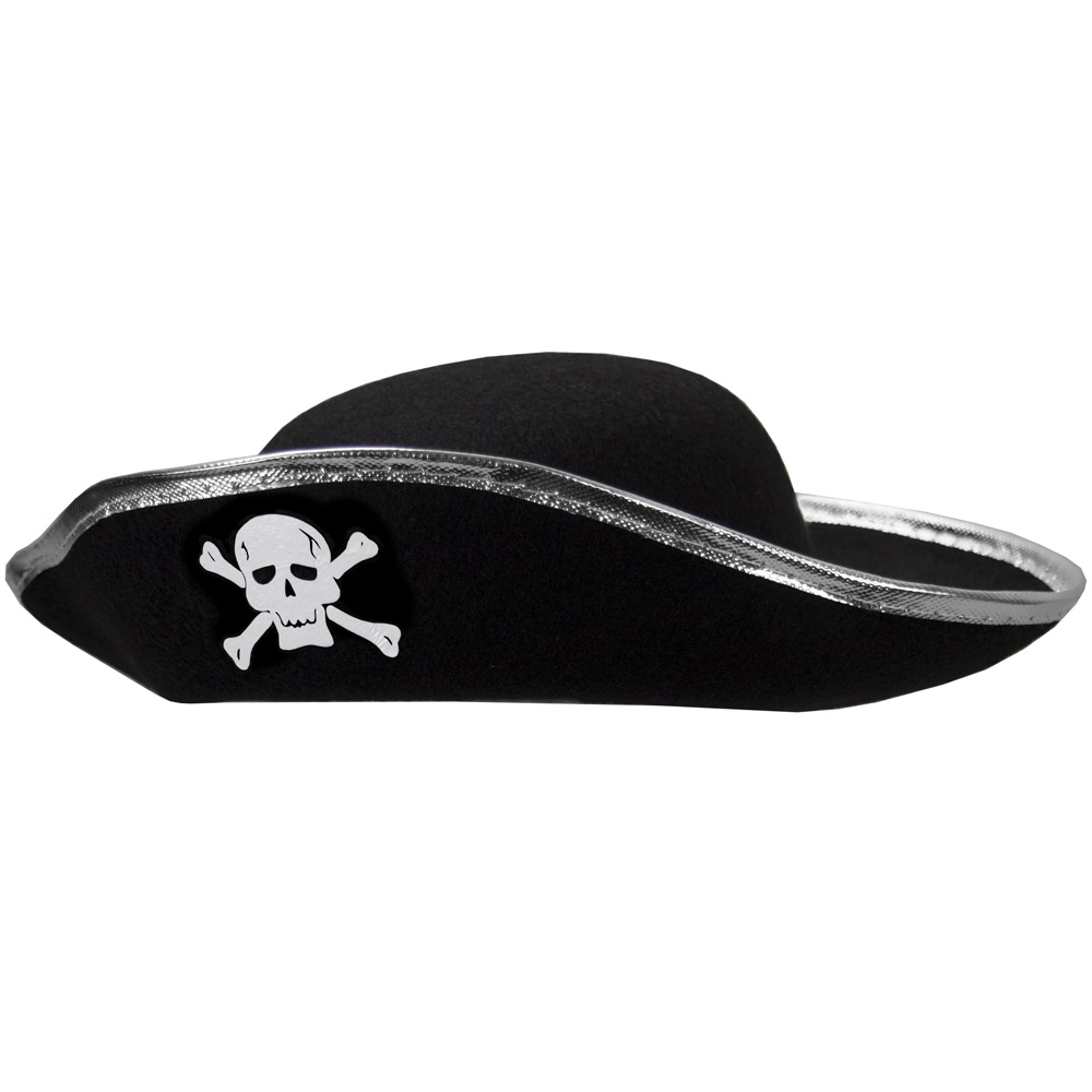 Hard Shell Tricorne Pirate Hat