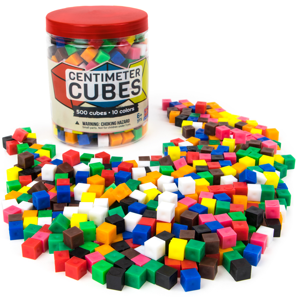500 Centimeter Cubes with Storage Container