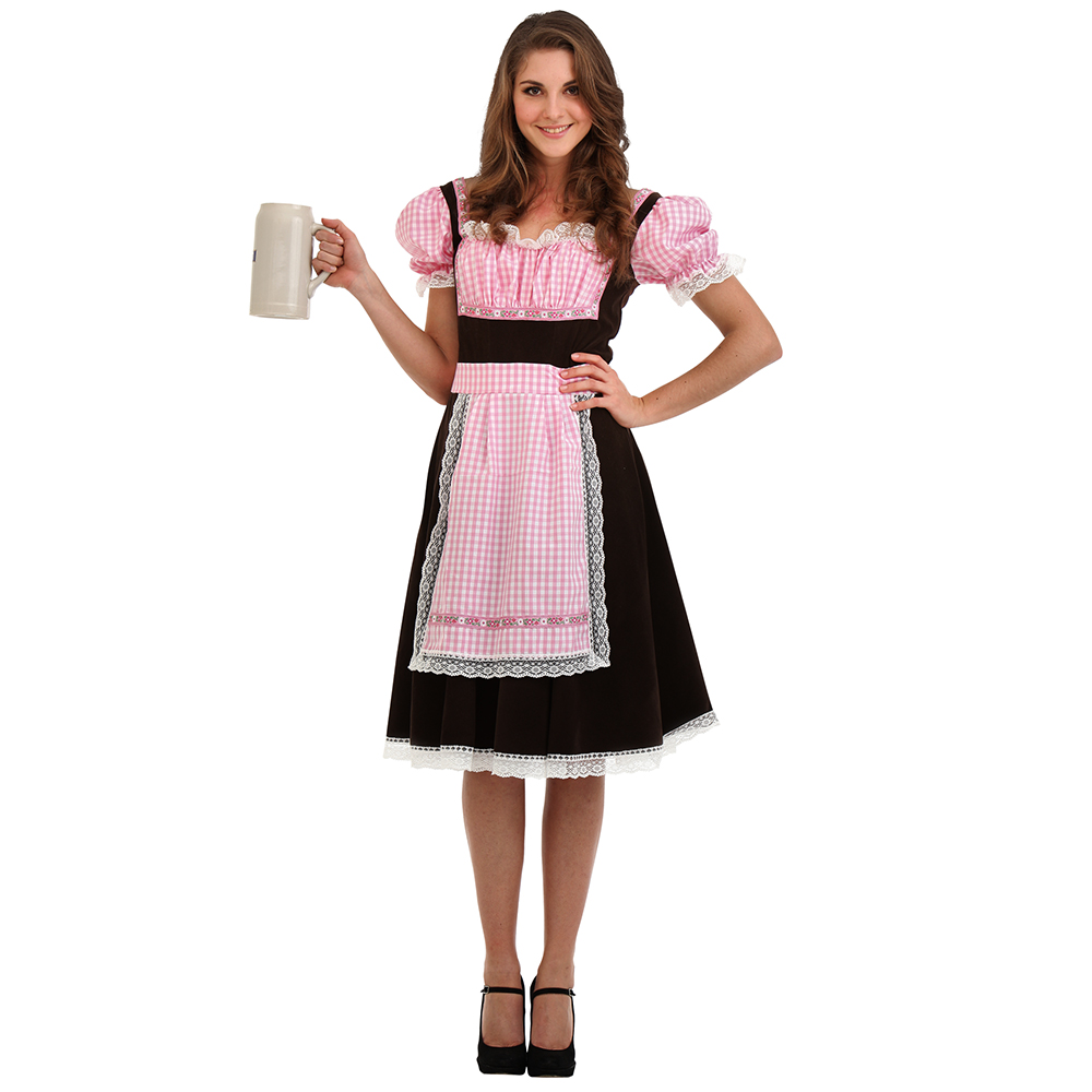 Bavarian Beer Maid Halloween Costume, Small