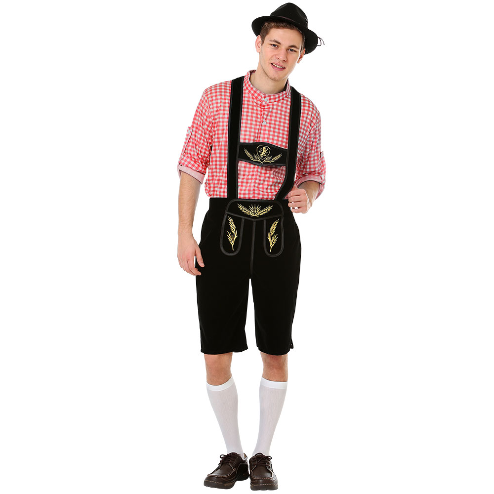 Oktoberfest Lederhosen Halloween Costume, Medium