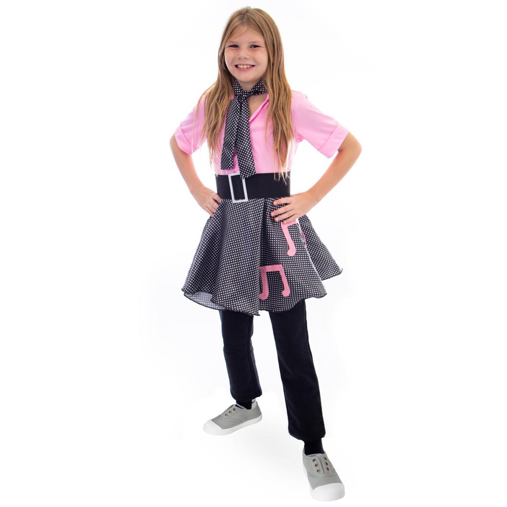 50s Sock Hop Costume Poodle Skirt, L