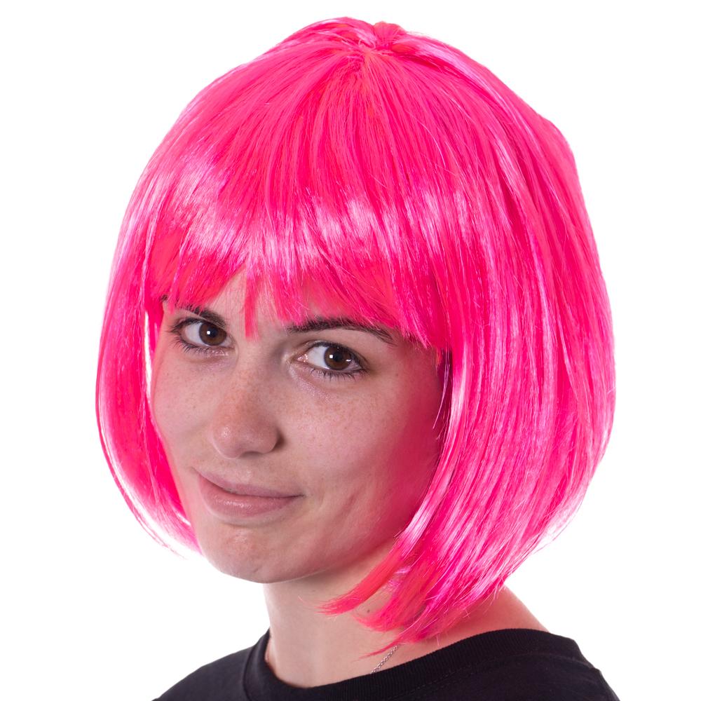 Pink Bob Costume Wig