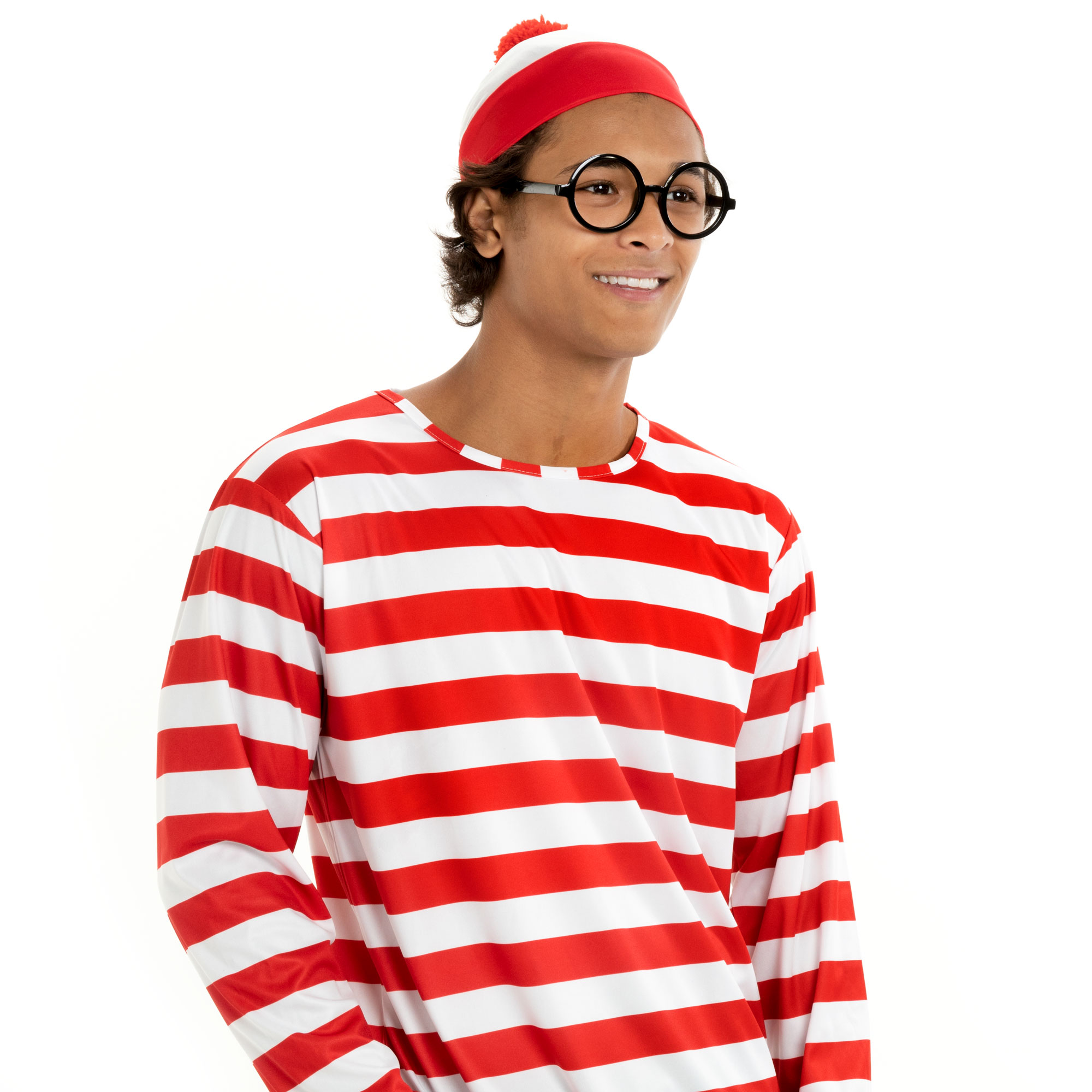 Where's Wally Halloween Costume - Men's Cosplay Outfit, L