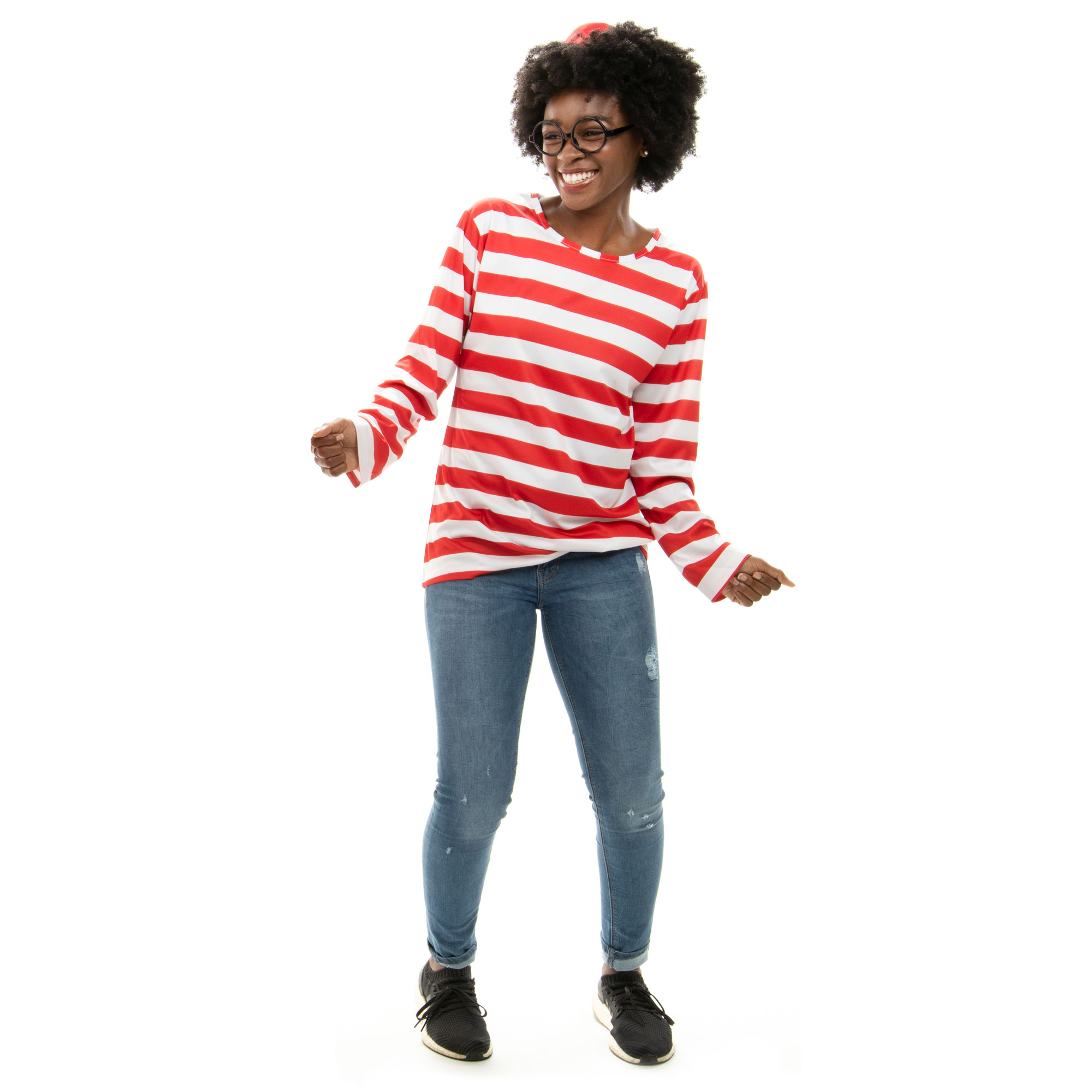 Where's Wally Halloween Costume - Women's Cosplay Outfit, M