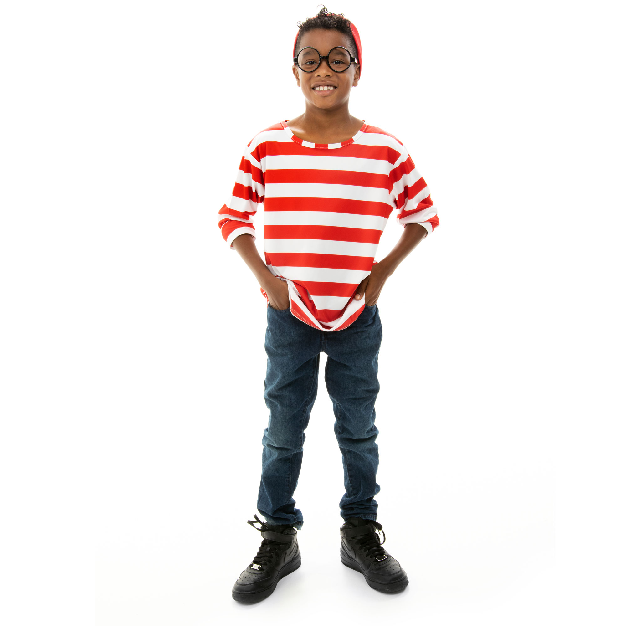 Where's Wally Halloween Costume - Child's Cosplay Outfit, M