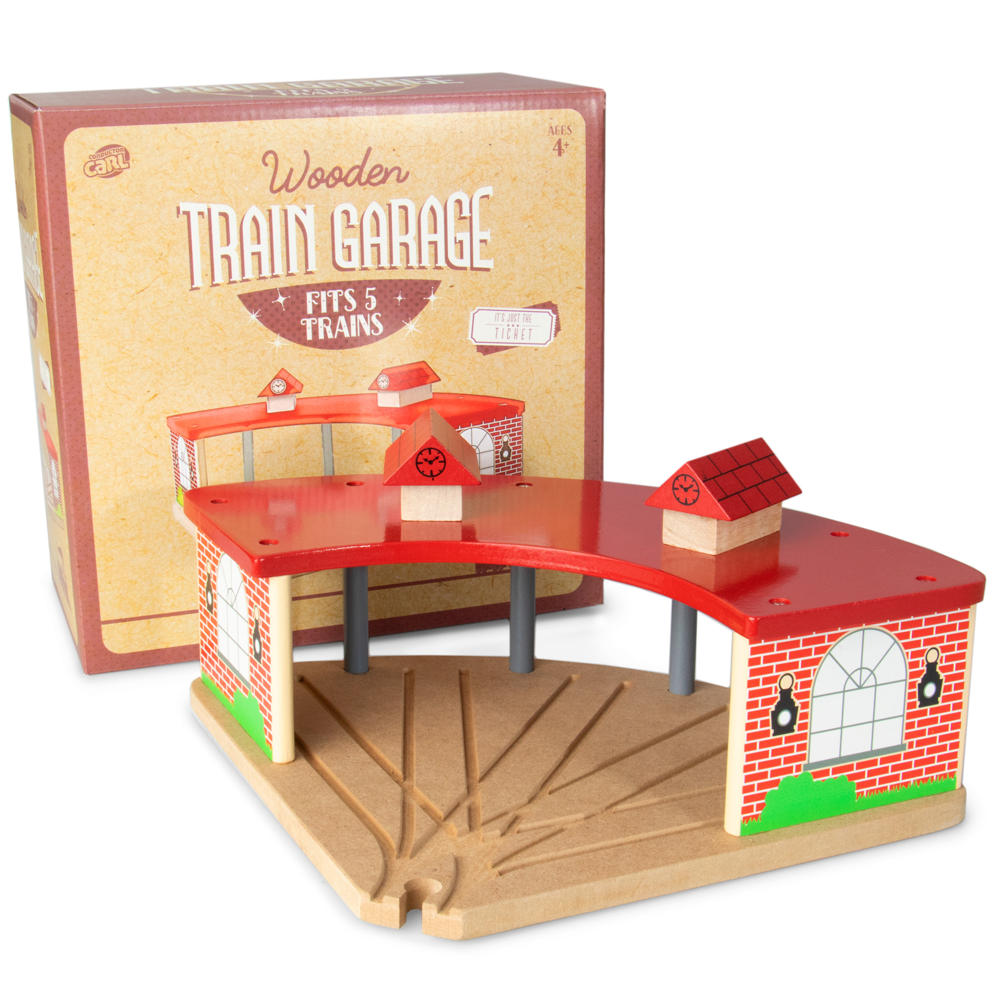 Wooden Train Garage