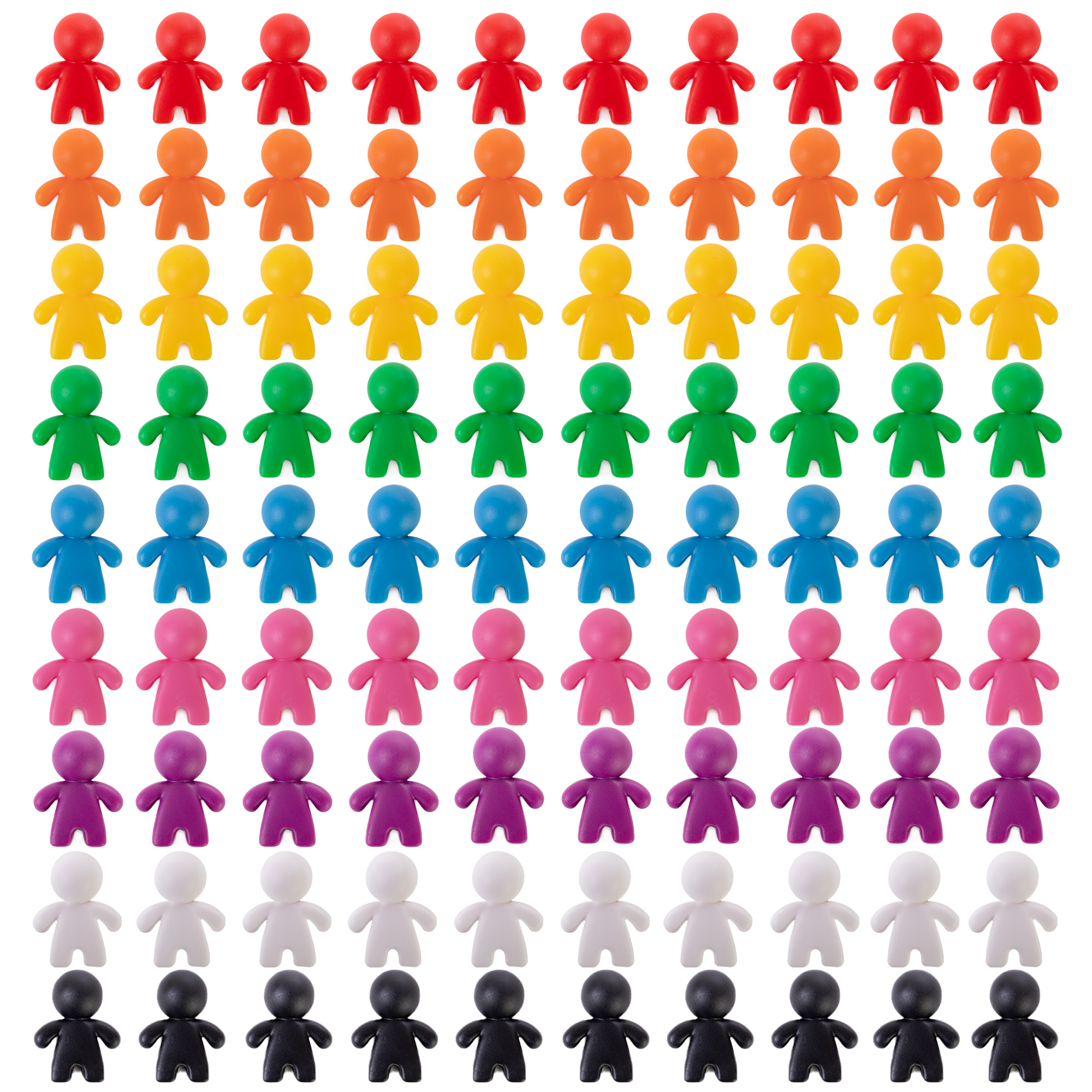 Peeples Board Game Pawns, 100-pack