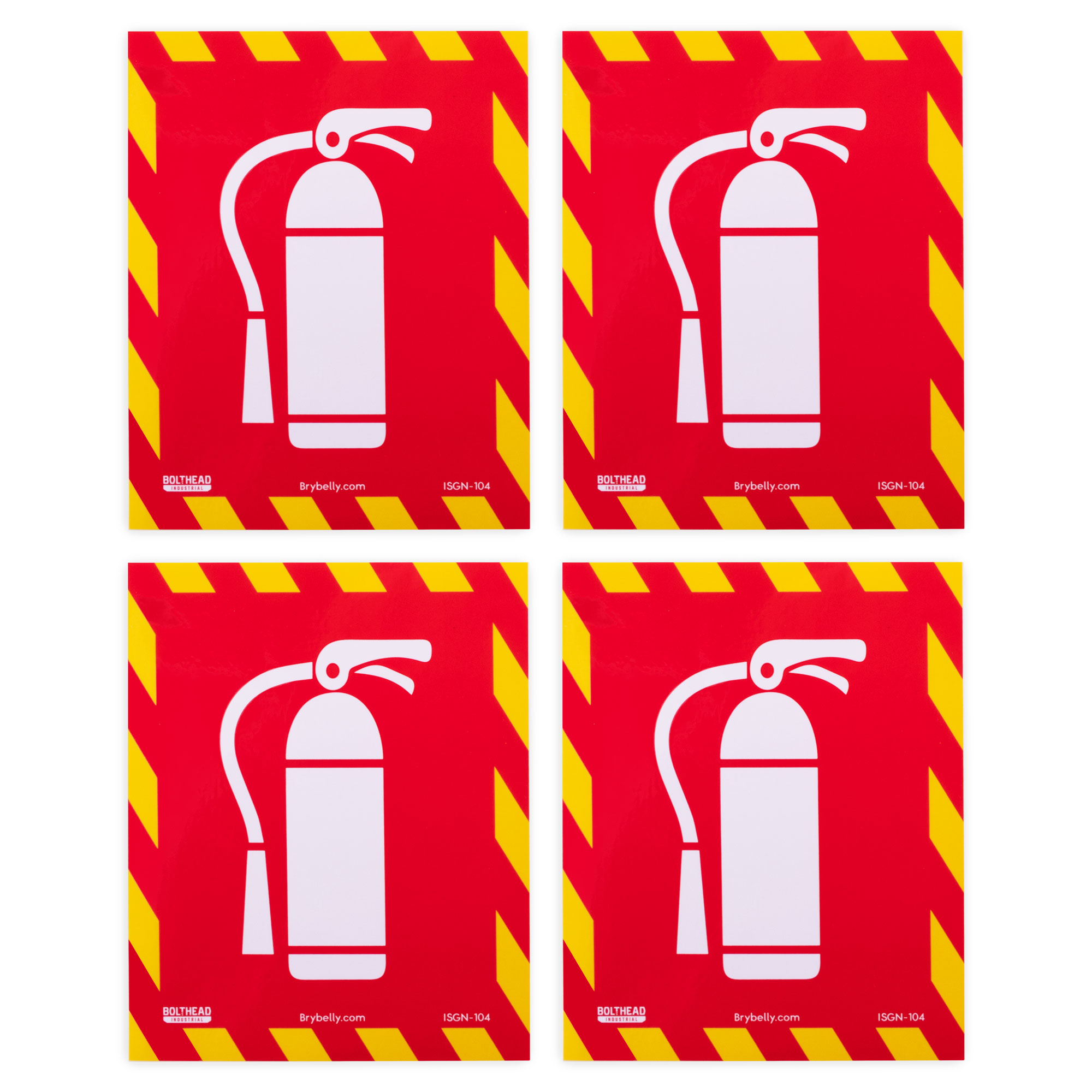 Fire Extinguisher Inside Icon Stickers, 4-pack