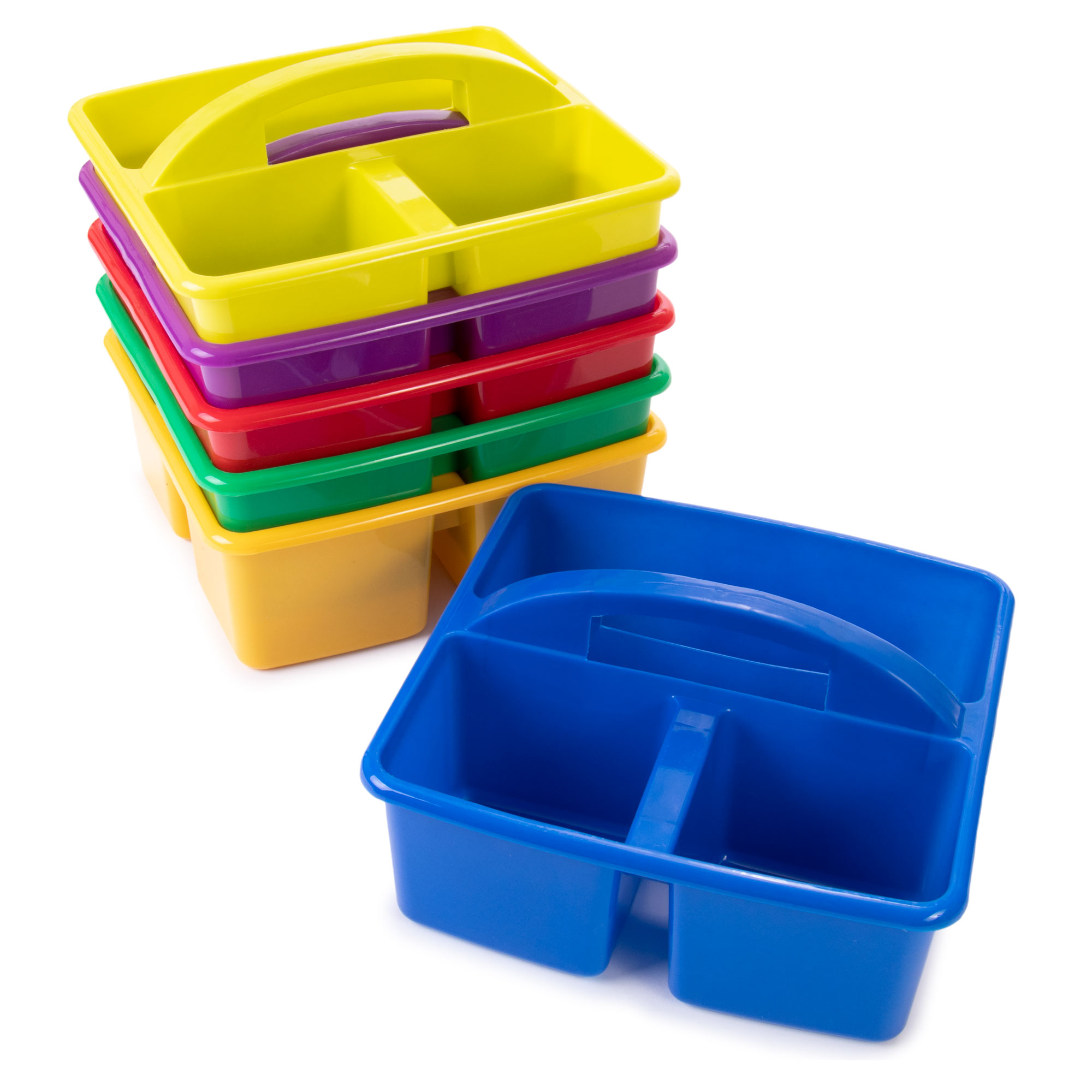 Assorted Color Table Caddies, 6-pack