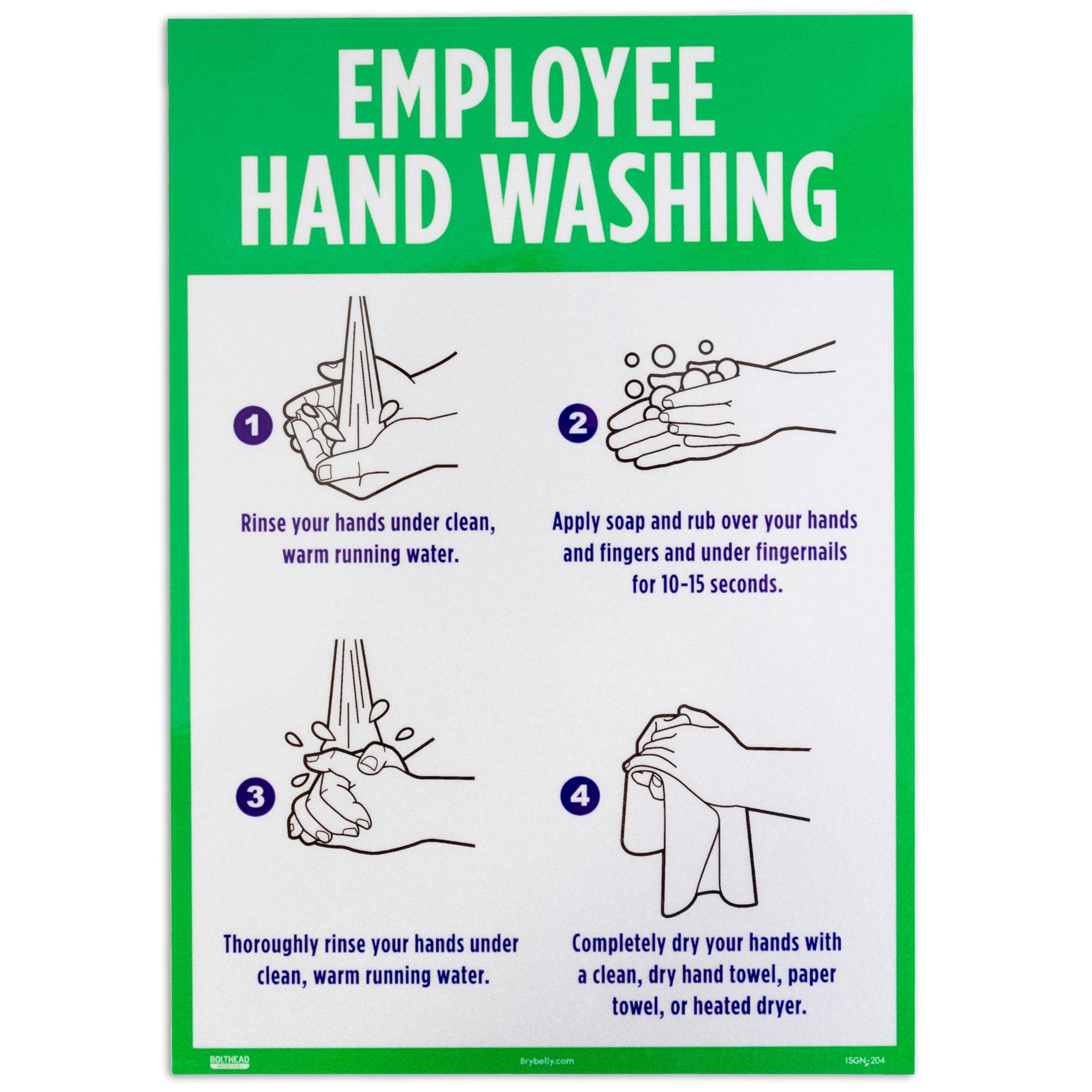 Employee Hand Washing Self-Adhesive Decal