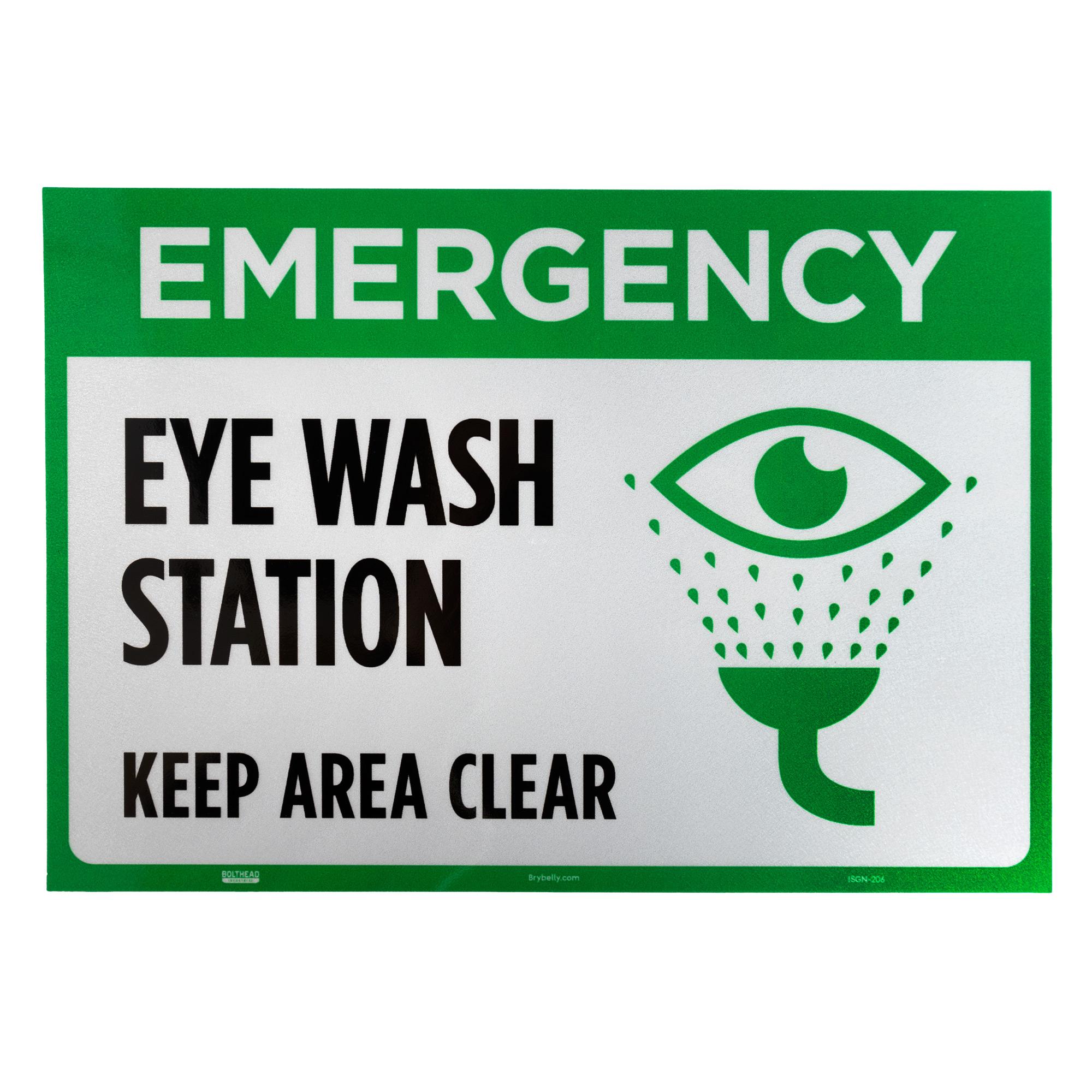 Emergency Eye Wash Station Self-Adhesive Decal