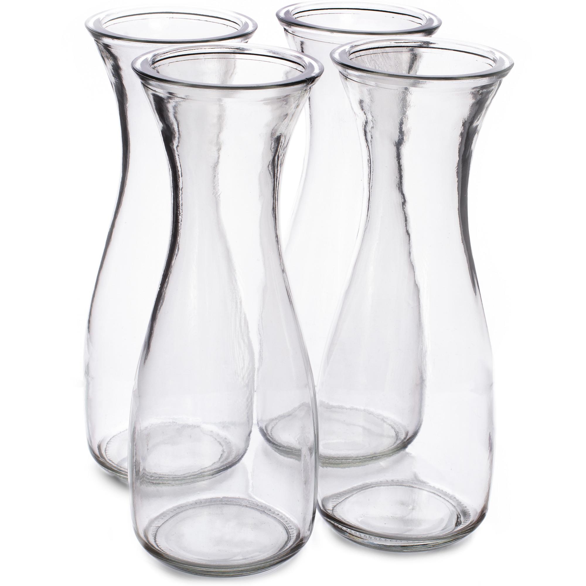 34 oz. (1 Liter) Glass Beverage Carafe, 4-pack