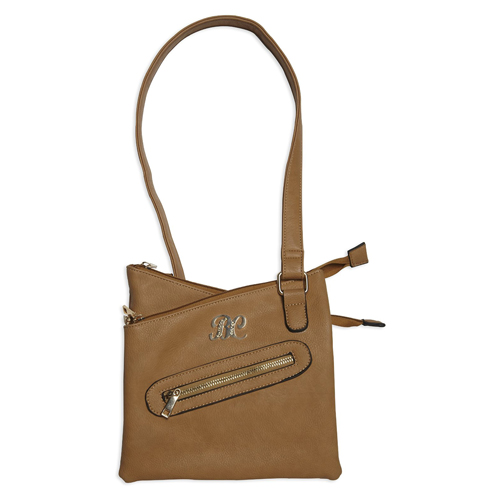 Cross Body Style Purse w/Holster Tan
