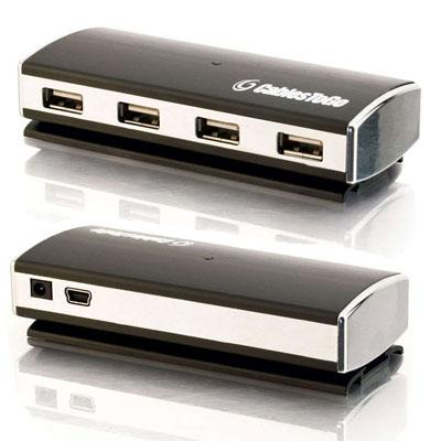 USB 2.0 Aluminum HUB 4-Port