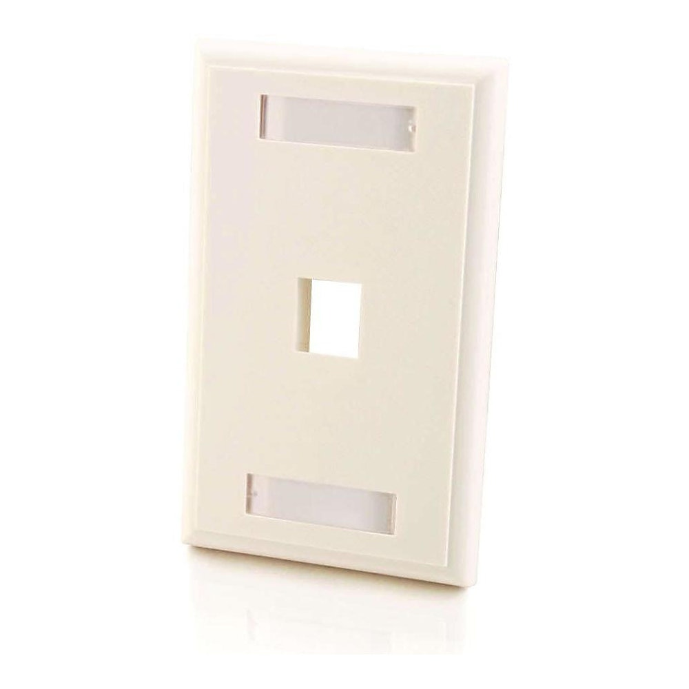 1-PORT KEYSTONE WALLPLATE White