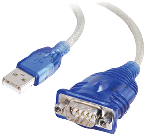 1.5' USB to DB9 Adapter cable