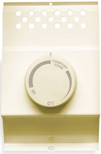 CADET� SINGLE-POLE BASEBOARD THERMOSTAT, ALMOND