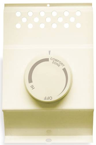 CADET� DOUBLE-POLE BASEBOARD THERMOSTAT, ALMOND