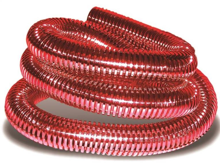 Calterm 73458 Flexible Tube, 3/8 in x 6 ft 6 ft, Red