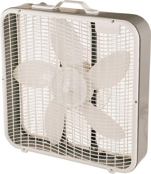 Camair BX100 High Performance Box Fan, 5 Blade, Light Gray