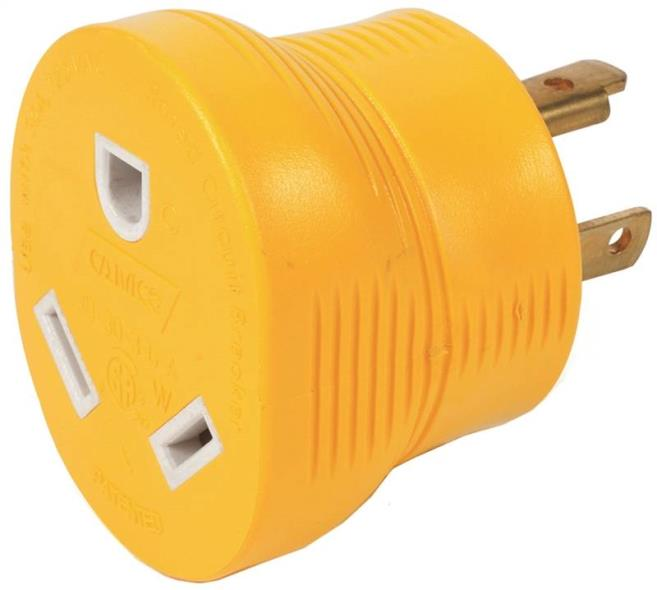 ADAPTER 30M/30F 3-PRONG 125V