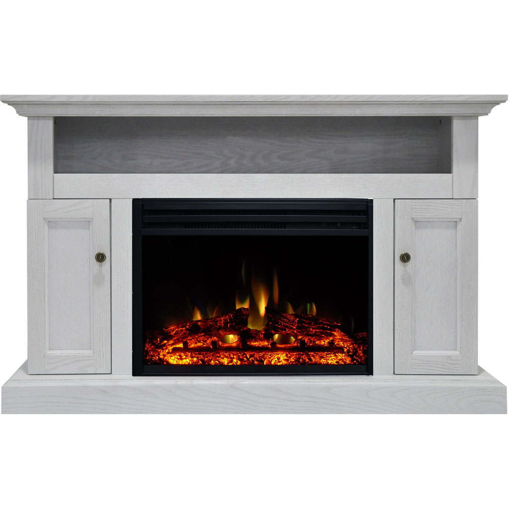 "47.2""x15.7""x30.7"" Sorrento Fireplace Mantel w/Deep & Enhanced Log Insert"