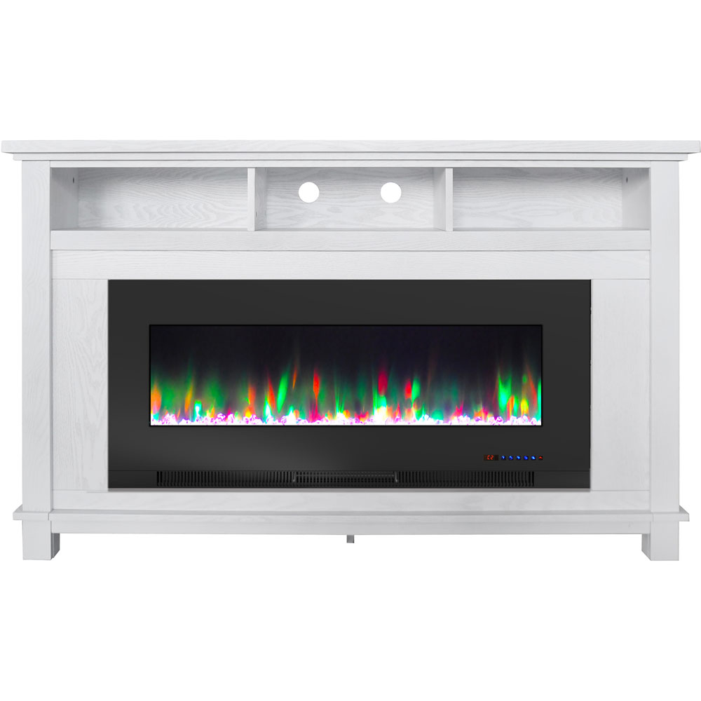 "57.8"" x 14.4"" x 35"" San Jose Fireplace Mantel w/ 50in crystal insert"