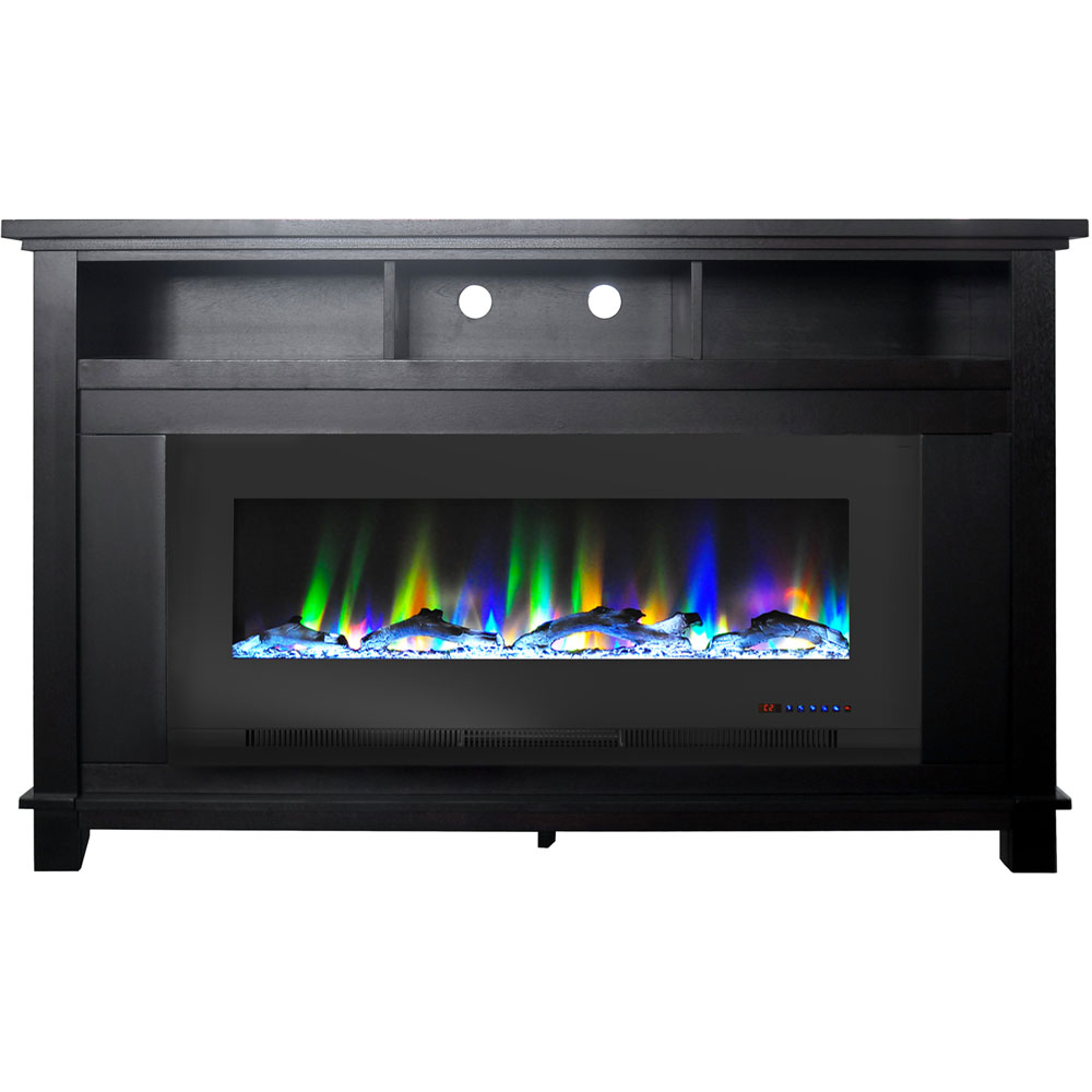 "57.8"" x 14.4"" x 35"" San Jose Fireplace Mantel with 50"" log Insert"