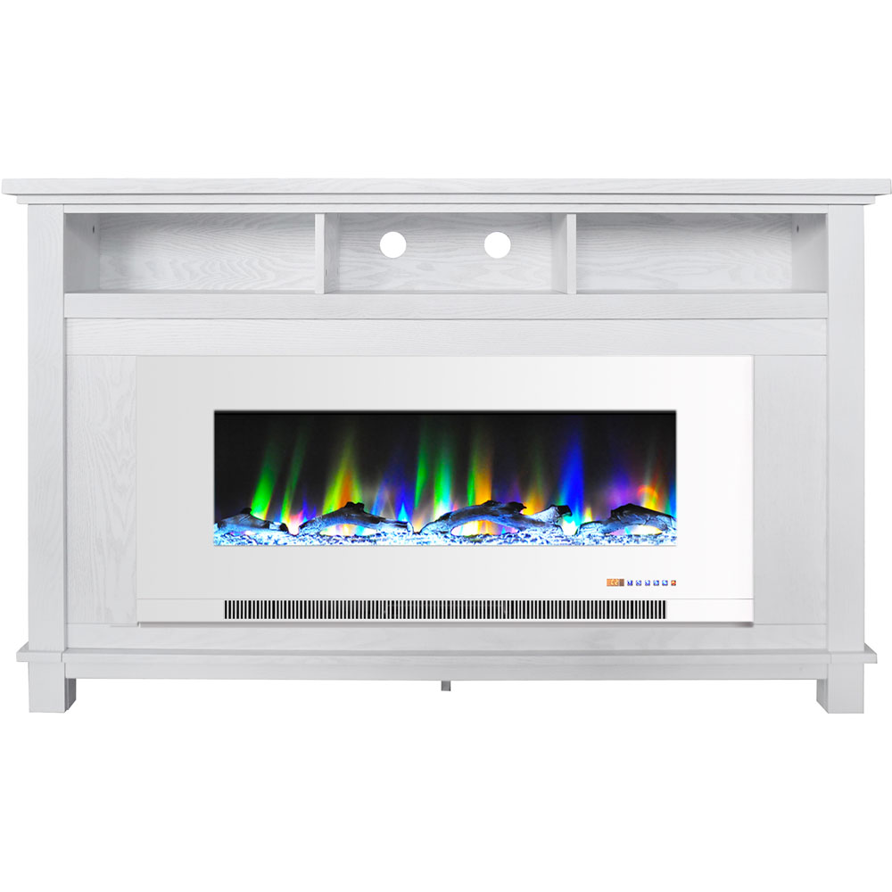 "57.8"" x 14.4"" x 35"" San Jose Fireplace Mantel w/ 50in log insert"