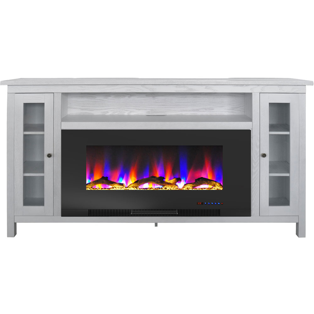 "69.7""x13.4""x38.6"" Somerset Fireplace Mantel with 42"" Log Insert"