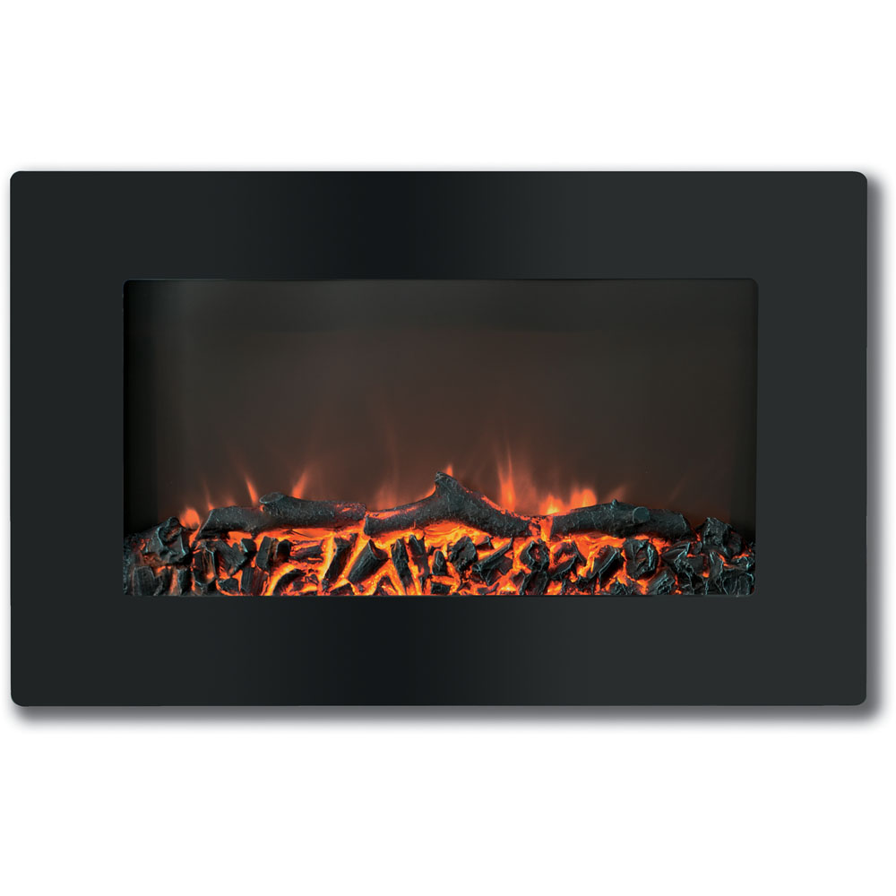 "30"" Callisto Wall Mount Electronic Fireplace with Logs"