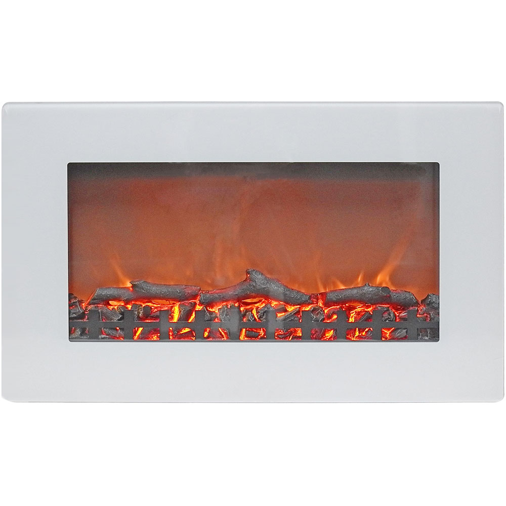 "30"" Wall Mount Electric Fireplace with Logs"