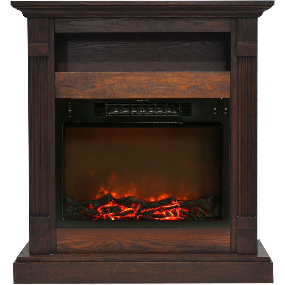 "33.9""x10.4""x37"" Sienna Fireplace Mantel with Log Insert"