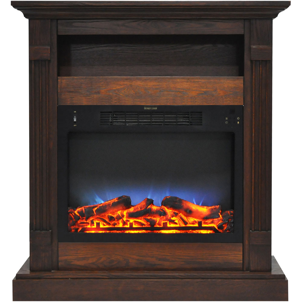 "33.9""x10.4""x37"" Sienna Fireplace Mantel with LED Insert"