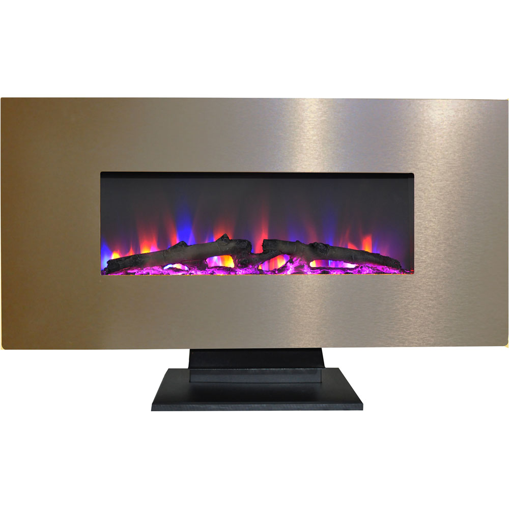 "42"" Wall Mount and Free Standing Electric Fireplace  w/ logs"