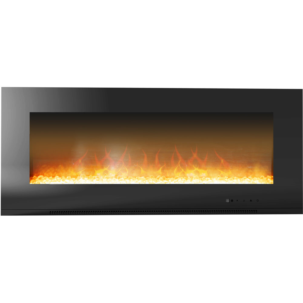 "56"" Metropolitan Wall Mount Electronic Fireplace with Crystal Rocks"