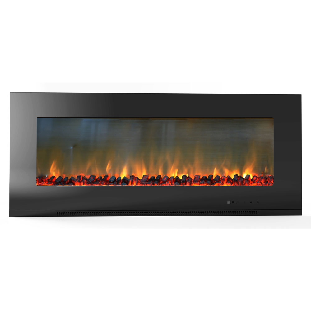 "56"" Metropolitan Wall Mount Electronic Fireplace with Logs"