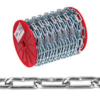 CHAIN STRT LINK COIL 2-0 125FT